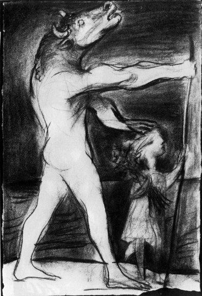 Minotauro guidato da una bambina-1934-Picasso